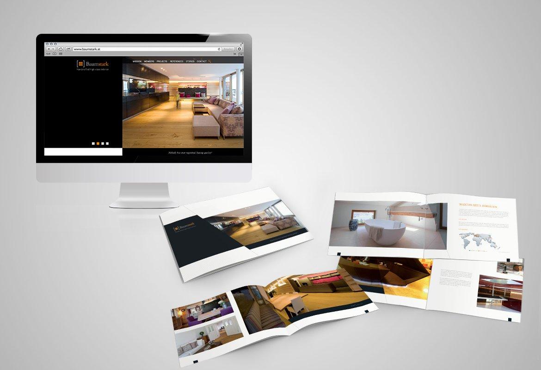 Homepage und Imagebroschüre