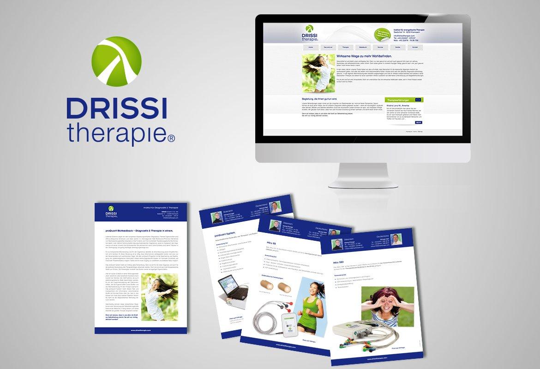 Logo, Produktblätter und Homepage